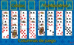 Como jugar a FreeCell y Reglas de FreeCell en Solitaire Collection
