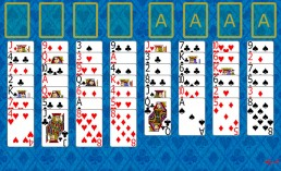 FreeCell Solitaire at the beginning in Solitaire Collection