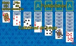 Como jugar a Klondike 1 y Reglas de Klondike 1 en Solitaire Collection