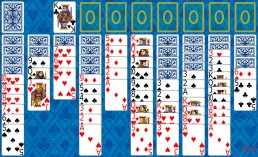 Spider Solitaire during the game in Solitaire Collection