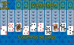 Como jugar a Spider y Reglas de Spider en Solitaire Collection