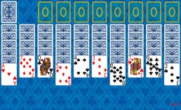 Spider Solitaire at the beginning in Solitaire Collection