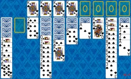 Spider 1 Suit Solitaire during the game in Solitaire Collection