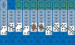 Spider 1 Suit Solitaire at the beginning in Solitaire Collection