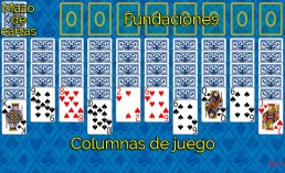 Como jugar a Spider 2 Suits y Reglas de Spider 2 Suits en Solitaire Collection