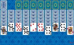 Spider 2 Suits Solitaire at the beginning in Solitaire Collection