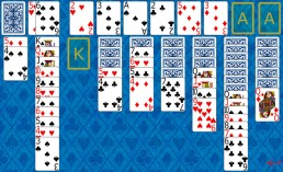 Double Klondike Solitaire during the game in Solitaire Collection