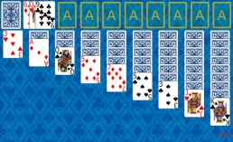 Double Klondike Solitaire at the beginning in Solitaire Collection