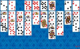 Sea Towers Solitaire during the game in Solitaire Collection