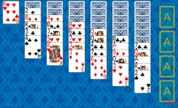 Yukon Solitaire at the beginning in Solitaire Collection