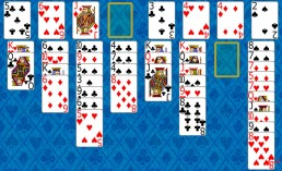 FreeCell Solitaire during the game in Solitaire Collection