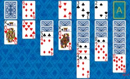 Klondike 1 Solitaire during the game in Solitaire Collection