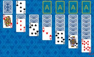 Klondike 1 Solitaire at the beginning in Solitaire Collection