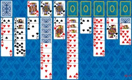 Spider 2 Suits Solitaire during the game in Solitaire Collection