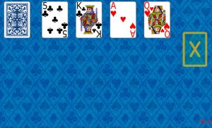 Aces Up Solitaire at the beginning in Solitaire Collection